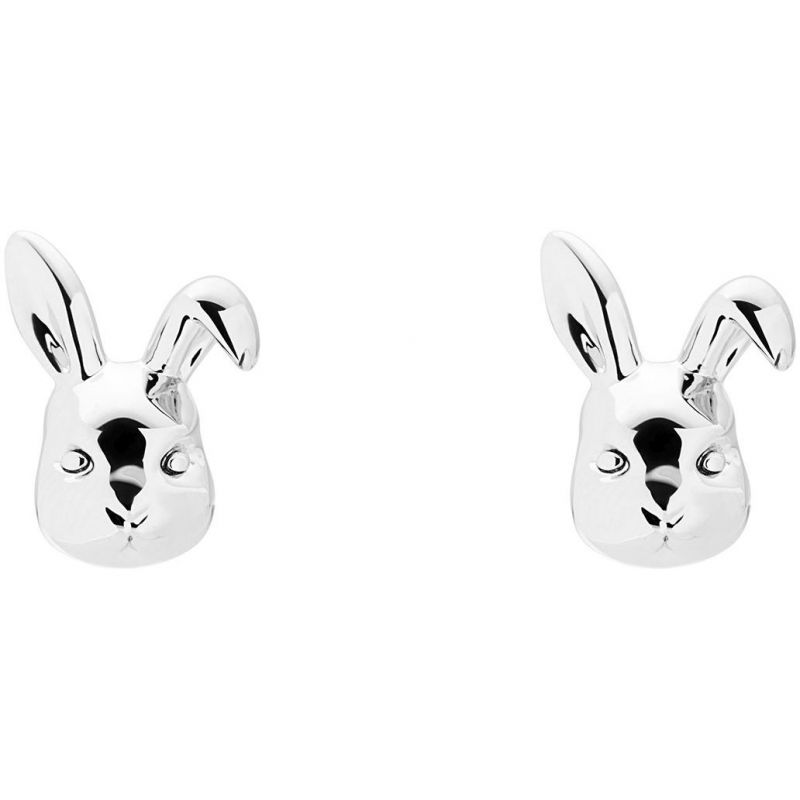 Ladies Ted Baker Silver Plated Bluebel Rabbit Earrings from Ted Baker Jewellery