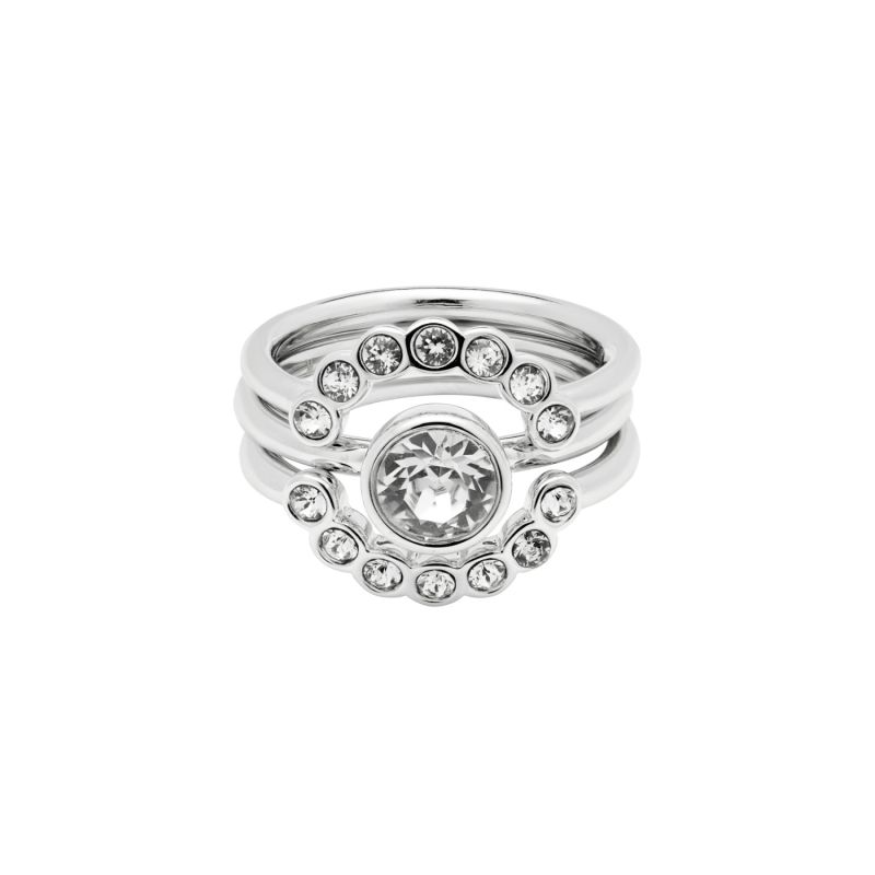 Ladies Ted Baker Silver Plated Cadyna Concentric Crystal Ring Size SM from Ted Baker Jewellery