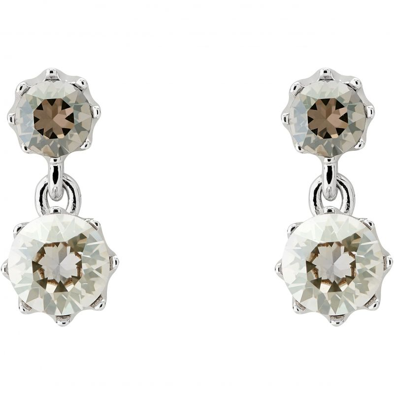 Ladies Ted Baker Silver Plated Connolee Crystal Crown Short Earring from Ted Baker Jewellery