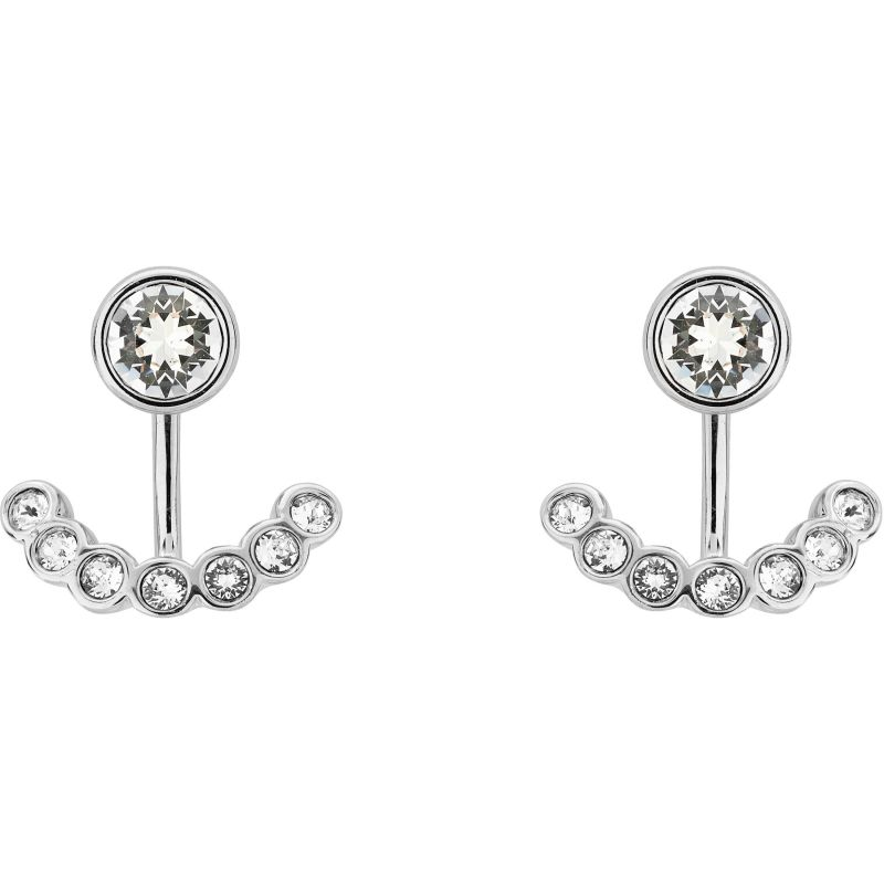 Ladies Ted Baker Silver Plated Coraline Concentric Crystal Earrings from Ted Baker Jewellery