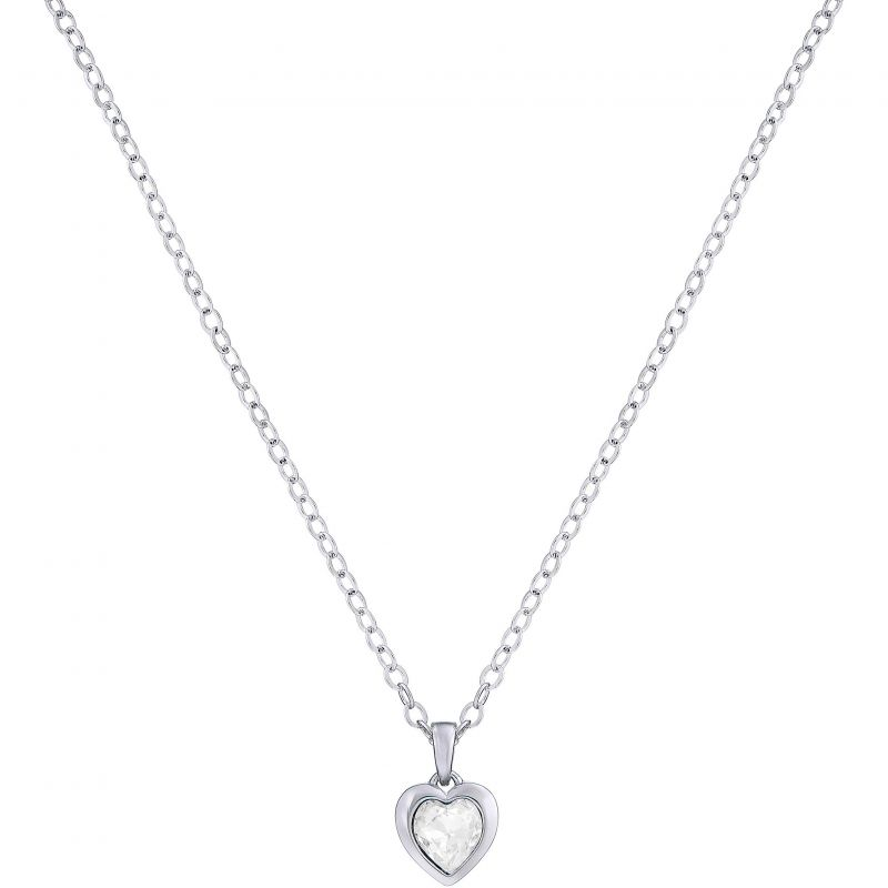 Ladies Ted Baker Silver Plated Crystal Heart Necklace from Ted Baker Jewellery