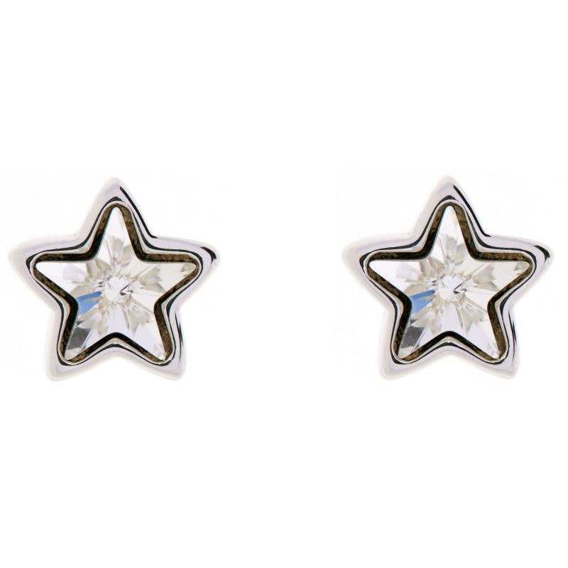 Ladies Ted Baker Silver Plated Crystal Star Earrings from Ted Baker Jewellery