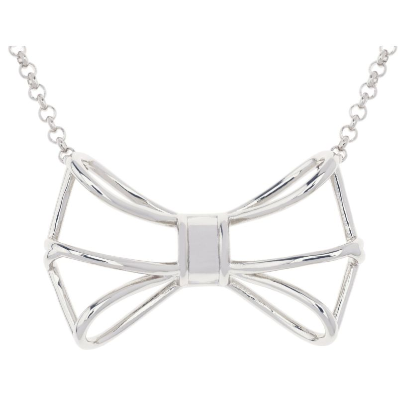 Ladies Ted Baker Silver Plated Giaani Geometric Bow Pendant from Ted Baker Jewellery