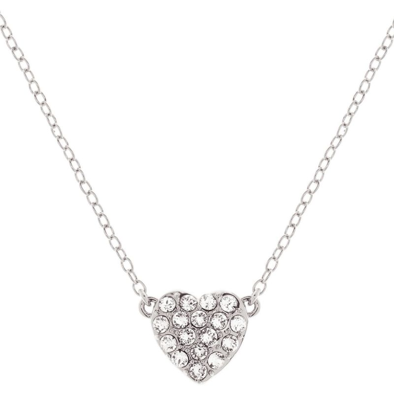 Ladies Ted Baker Silver Plated Pave Crystal Heart Necklace from Ted Baker Jewellery