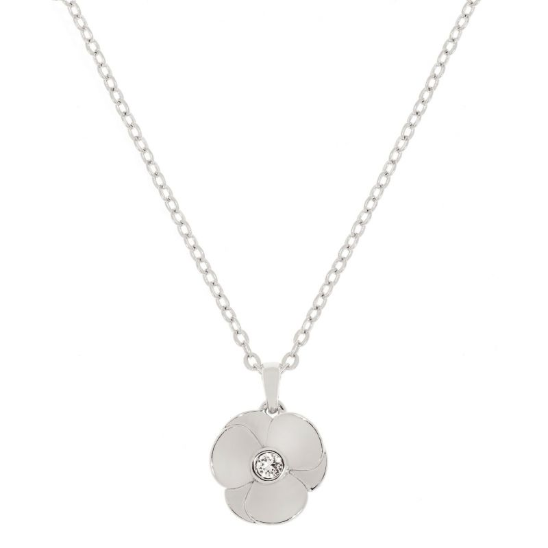 Ladies Ted Baker Silver Plated Primroz Pressed Flower Necklace from Ted Baker Jewellery
