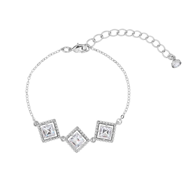 Ladies Ted Baker Palilla Pearl Frame Crystal Square Bracelet from Ted Baker Jewellery