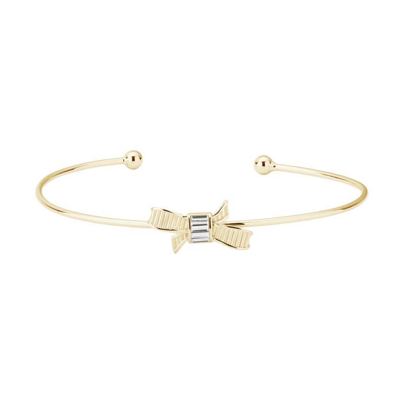 Ladies Ted Baker Decimaa Mini Ribbon Bow Ultra Fine Cuff from Ted Baker Jewellery