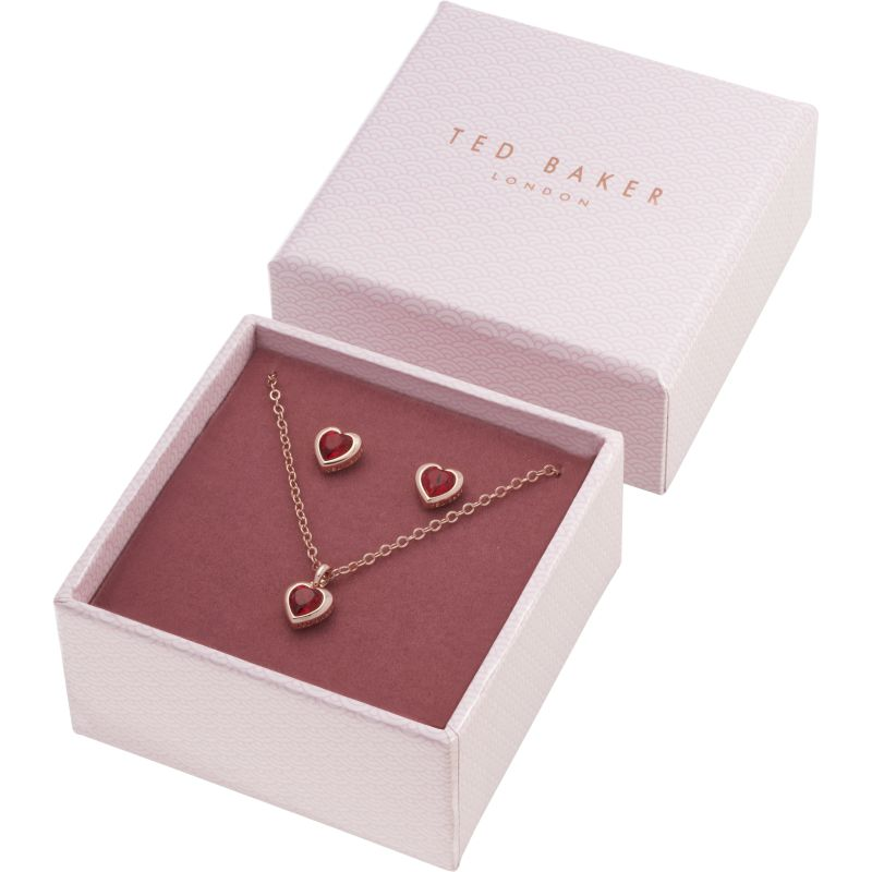 Ladies Ted Baker Hadeya Crystal Heart Gift Set from Ted Baker Jewellery