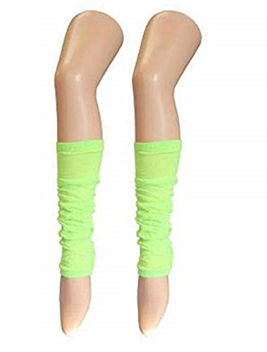 Ladies & Girls Bright Fluorescent Neon Stretch Fit Comfort Ankle Leg Warmers (Mint Green) from B&S Trendz