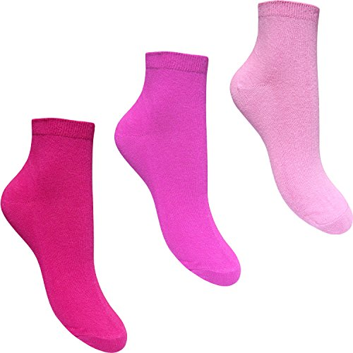 30d7a24e41 Women s Longer Length Trainer Ankle Liners Socks (3 Pair Pack) (Pink Mix)