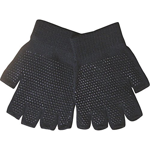 Youths Black Super Soft Magic Gripper Fingerless Thermal Winter Gloves from TeddyT's