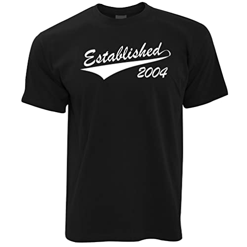 Established 1999 18th Birthday Gift Present [2017 Edition] Mens T-Shirt Cool Funny Gift Present For Men from Tim And Ted
