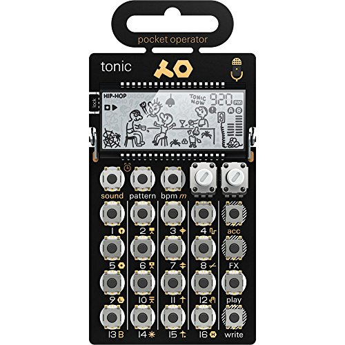 Teenage Engineering PO-32 Tonic Drum Synthesizer and Sequencer, Gold/Black from Teenage Engineering