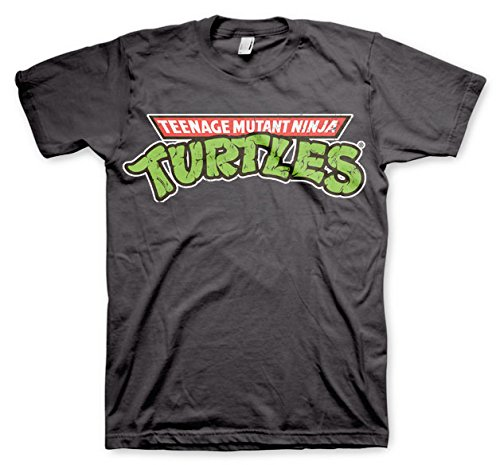 Officially Licensed Merchandise TMNT - Classic Logo T-Shirt (D.Grey), Medium from Teenage Mutant Ninja Turtles