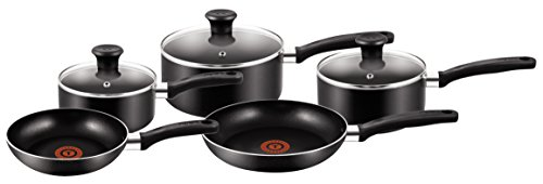 Tefal Essential Cookware Set - Black, 5 Pieces from Tefal