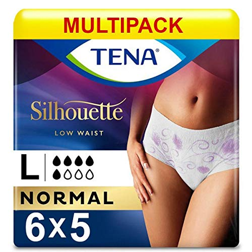 TENA Lady Pants Discreet Large - Absorbency 360ml - 6 Packs of 5 Pieces (30 Total) from Tena