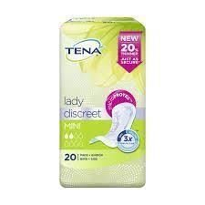 THREE PACKS of Tena Lady Discreet Mini 20 Pads from TENA