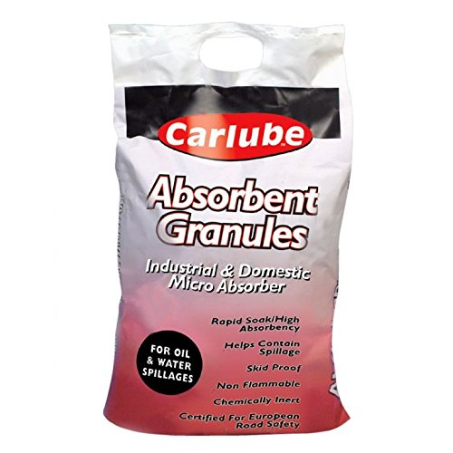 Tetrosyl Carlube Oil/Liquid Absorbent Spill Granules 20L Bag x 1 = 20 Litres Dry Clean Oil Paint Thinners Primer Liquids Spillage Absorbent Crystal Granules from Tetrosyl