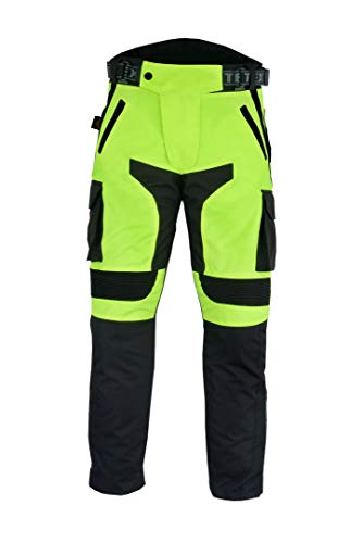 Full Length Side Leg Zips Motorcycle Over Trousers By Texpeed Commuting To Work Waterproof With CE Armour Protection