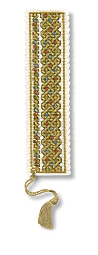 Celtic Knot Bookmark - Green - Cross Stitch Kit from Textile Heritage