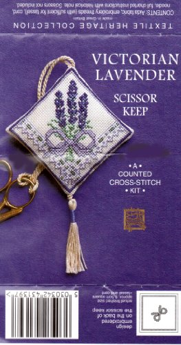 Victorian Lavender Scissor Keep - Cross Stitch Kit from Textile Heritage