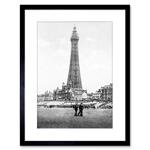 VINTAGE PHOTO BLACKPOOL TOWER ENGLAND HISTORY FRAMED PRINT F97X2835 from The Art Stop