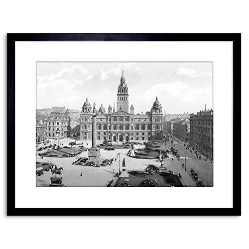 VINTAGE PHOTO GLASGOW GEORGE SQUARE SCOTLAND FRAMED PRINT F97X3516 from The Art Stop