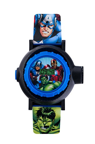 Avengers Children's Digital Watch with Multicolour Dial Digital Display and Blue PU Strap AVG3536 from The Avengers