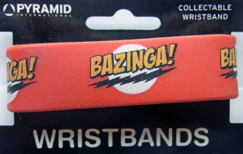 Big Bang Theory Bazinga Logo Rubber Wristband from The Big Bang Theory