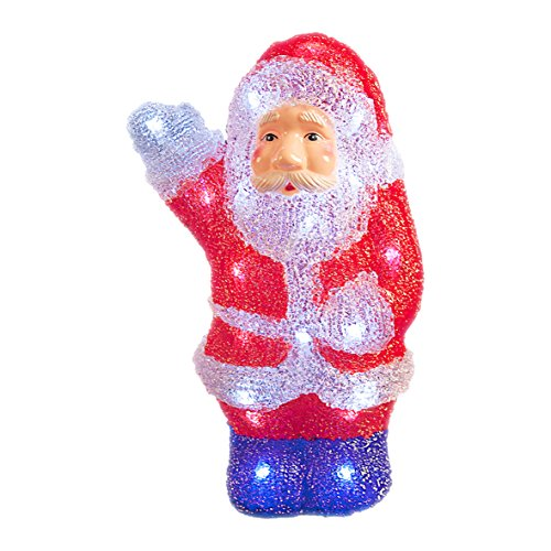 The Benross Christmas Workshop 22 cm 24 LED Battery Operated Acrylic Santa from The Christmas Workshop