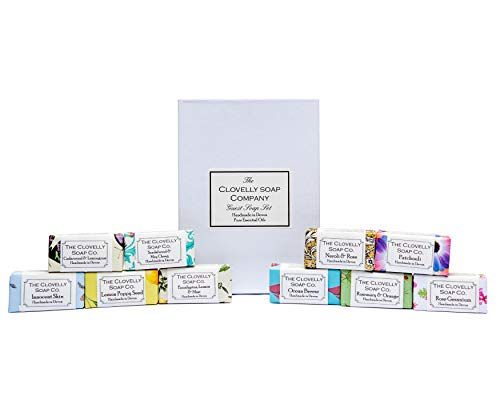 Clovelly Soap Co Handmade Natural Mini Guest Soap Gift Set 10 Bars from The Clovelly Soap Co.