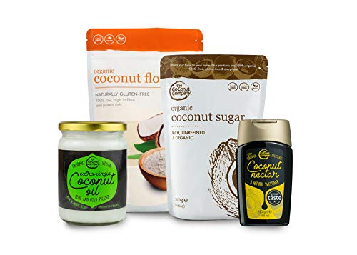 Coconut Baking Gift Set - Perfect for Baking Enthusiasts - includes Coconut Oil, Sugar, Flour & Coconut Nectar from The Coconut Company