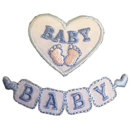 Baby Blocks Blue Iron On Or Sew On Motif from The Craft Factory