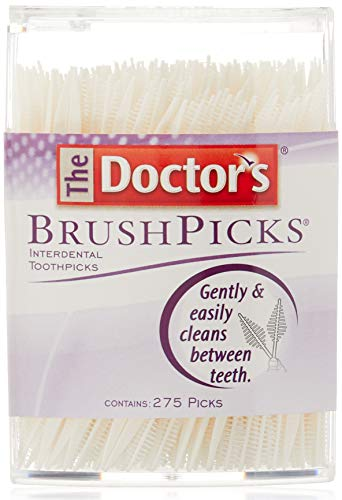 The Doctor's BrushPicks | Interdental Toothpicks | 275 Count | Pack of 4 | Safely Removes Food Debris from The Doctors