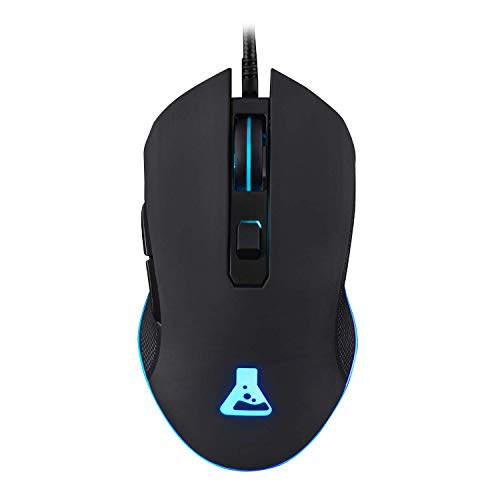 G-LAB Kult Helium Wired USB Gaming Mouse - 800 to 3200 DPI Optical Sensor, 7-Color LED Backlight, 6 Buttons - Comfortable and Lightweight Gaming Mouse - Compatible on PC Mac Xbox One PS4 (Black) from THE G-LAB