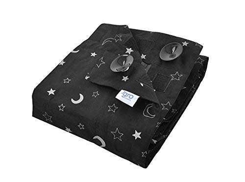 The Gro Company Stars and Moons Gro Anywhere Portable Blackout Blind with Suction Cups from the gro company