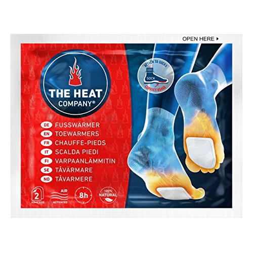 THE HEAT COMPANY Toewarmers - EXTRA WARM - Adhesive - Foot Warmers - 8 Hours Warm Feet - Instant Heat - Air Activated - Purely Natural 5 Pairs from THE HEAT COMPANY