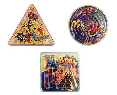 12 X Super Hero Maze Puzzle from The Harlequin Brand