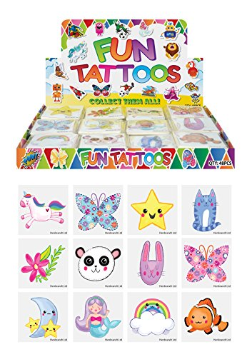 Henbrandt 24 x Cute Temporary Tattoos Children's Birthday Loot Party Bag Filler from HENBRANDT