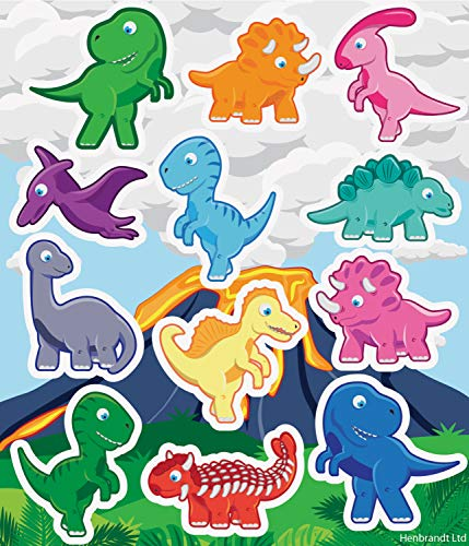 24 x Dinosaur Sticker Sheets - REFERENCE PBF159 from HENBRANDT