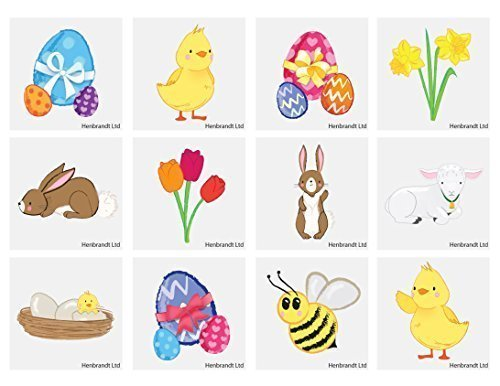 HENBRANDT 48 x Easter Temporary Tattoo's from HENBRANDT