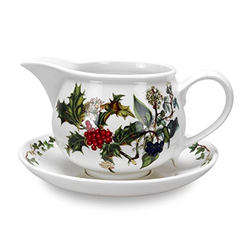Portmeirion Home & Gifts Gravy Boat & Stand, Ceramic, Multi-Colour, 17 x 18 x 11 cm from Portmeirion Home & Gifts