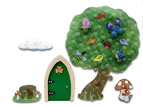 The Irish Fairy Door Company FD554454 3-D Wall Art Tree from The Irish Fairy Door Company