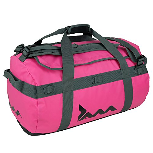 Pink 45 Litre Cargo Duffle Bag Waterproof Holdall Sports Gym Travel Luggage from JAM
