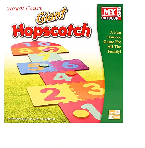 The Magic Toy Shop Giant Hop Scotch Indoor Outdoor Garden Fun Family Hopscotch Game Set Foam Mat from The Magic Toy Shop