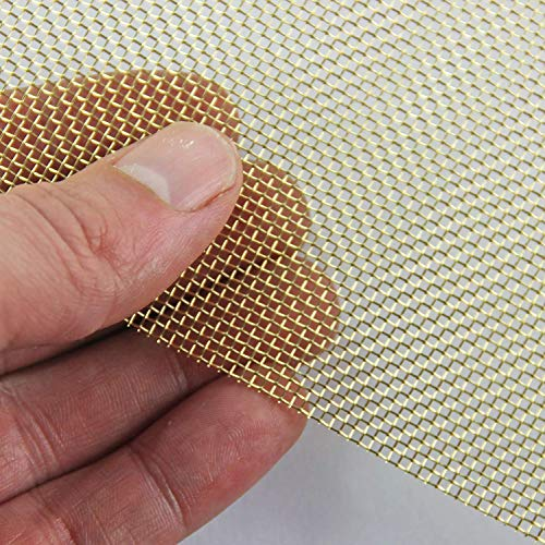 Coarse (16 LPI x 1.21mm Hole x 0.375mm Wire) Brass Mesh - A3 (300 x 420mm) from The Mesh Company