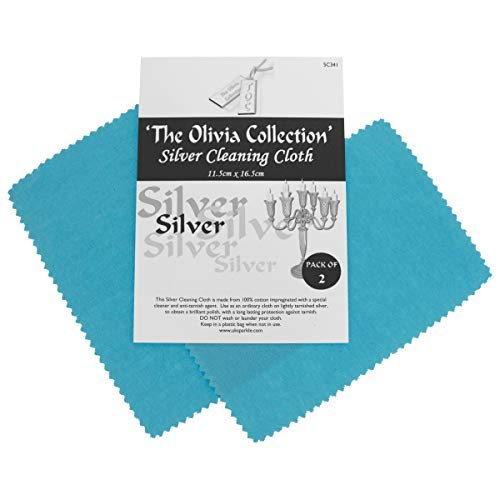 TOC Silver Jewellery Anti Tarnish Polishing Cloth X 2 - Standard 115mm x 165mm from The Olivia Collection