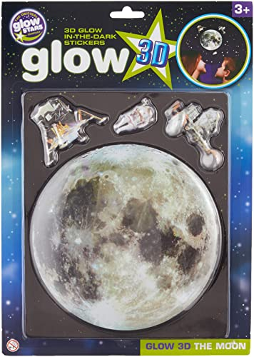 The Original Glowstars Company Glow-in-The-Dark 3D Moon Sticker - Room Decoration from The Original Glowstars Company