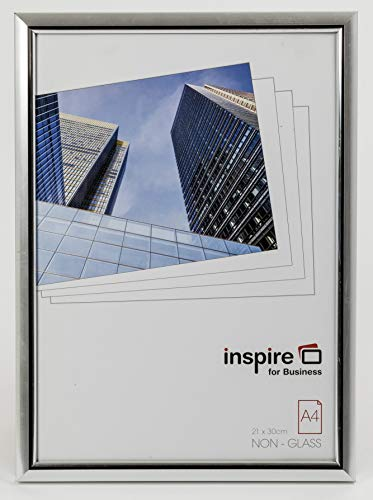 EASYLOADER Silver A4 21x30 cm Certificate Photo Frame Safety Plexi Glass Picture Aperture EASA4SVP from The Photo Album Company