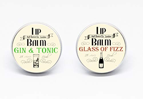 Gin & Tonic and Prosecco Lip Balms by The Prohibition Co. 2 x 15ml Tins from The Prohibition Co.